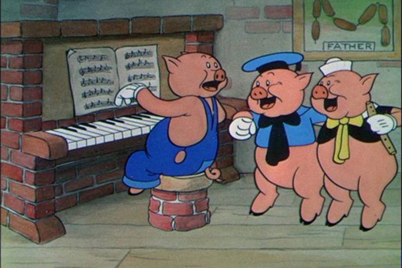 tre piccoli procellini - Siam tre piccoli porcellin..
